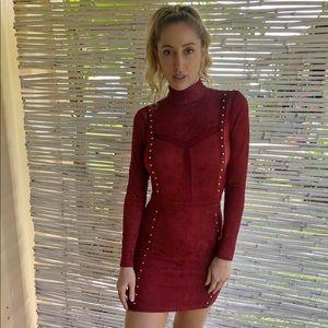 Dresses & Skirts - Suede like Sizzling Hot Mini Studded Dress